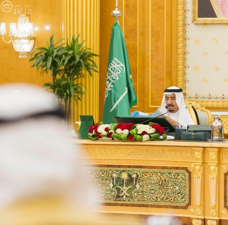خادم الحرمين الشريفين يرأس جلسة مجلس الوزراء (واس) 28-12-1436 هـ
