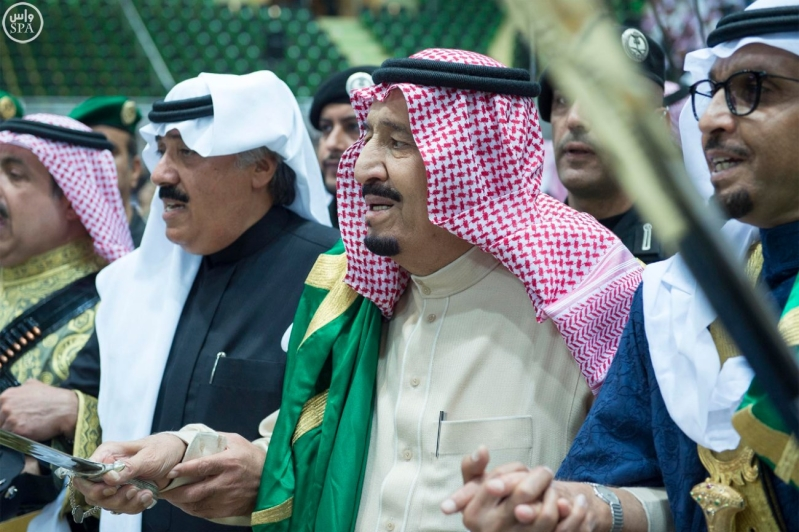 خادم الحرمين الشريفين يرعى حفل العرضة السعودية ضمن نشاطات المهرجان الوطني للتراث والثقافة في دورته الثلاثين 19