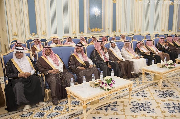 خادم الحرمين الشريفين يستقبل أصحاب السمو الأمراء وسماحة المفتي وجموعا من المواطنين 16
