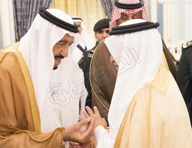 خادم الحرمين الشريفين يستقبل أصحاب السمو الأمراء وسماحة المفتي وجموعا من المواطنين 5