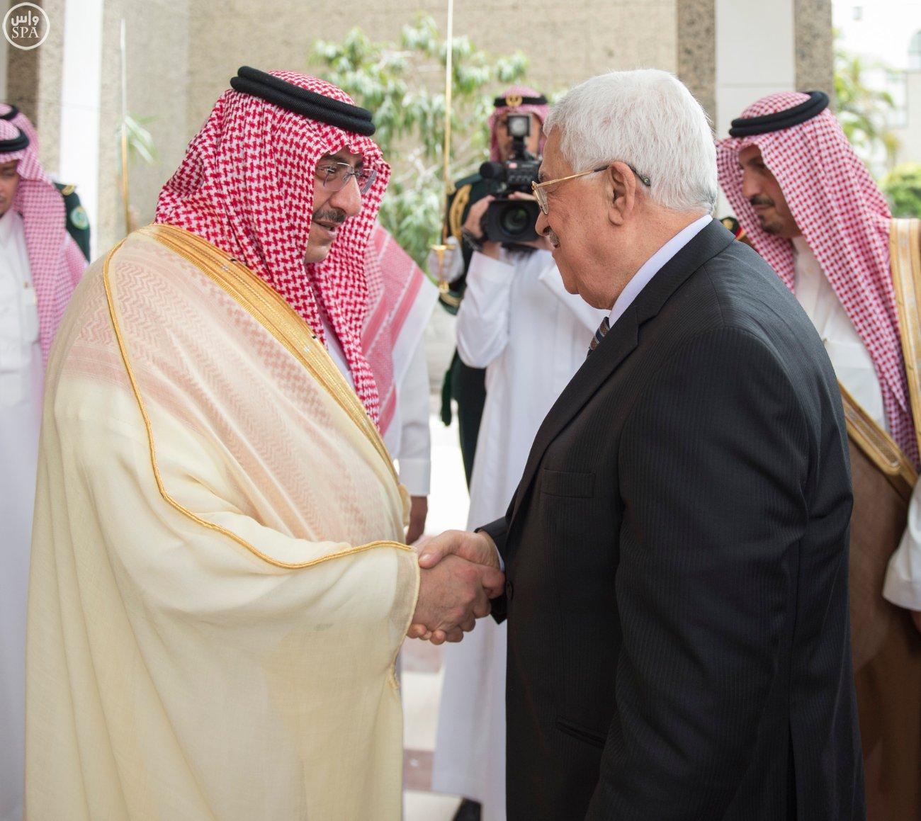 خادم الحرمين الشريفين يستقبل الرئيس الفلسطيني (5)