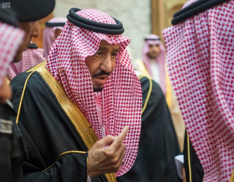خادم الحرمين الشريفين يستقبل المعزين في وفاة صاحب السمو الملكي الأمير تركي 31