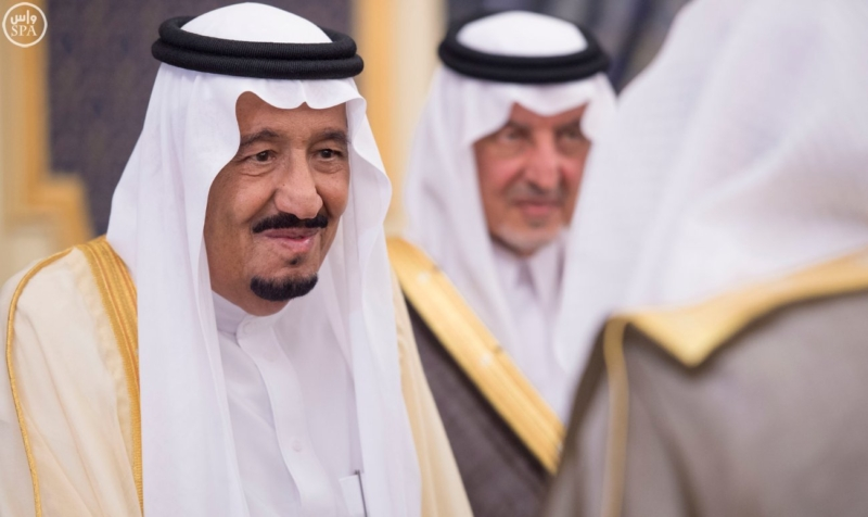 خادم الحرمين الشريفين يستقبل المهنئين بشهر رمضان المبارك (31195658) 