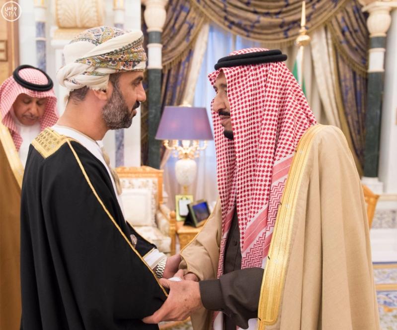 خادم الحرمين الشريفين يستقبل رؤساء مجالس الشورى والنواب والوطني والأمة الخليجيين المشاركين في الاجتماع التاسع للمجالس1