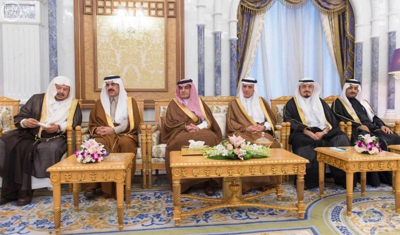 خادم الحرمين الشريفين يستقبل رؤساء مجالس الشورى والنواب والوطني والأمة الخليجيين المشاركين في الاجتماع التاسع للمجالس2