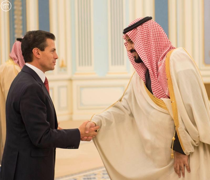 خادم الحرمين الشريفين يستقبل رئيس الولايات المتحدة المكسيكية 12