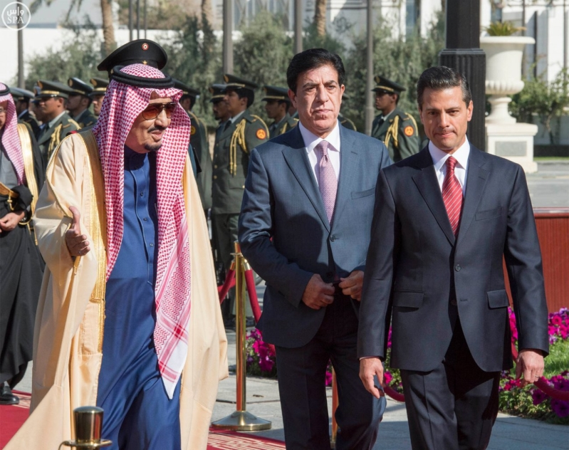 خادم الحرمين الشريفين يستقبل رئيس الولايات المتحدة المكسيكية  2