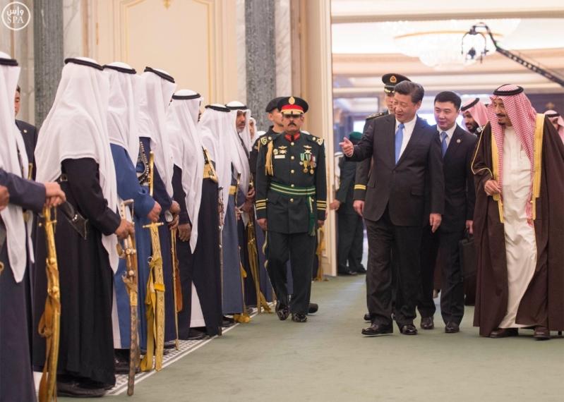 خادم الحرمين الشريفين يستقبل رئيس جمهورية الصين الشعبية ويقيم مأدبة غداء تكريما له12