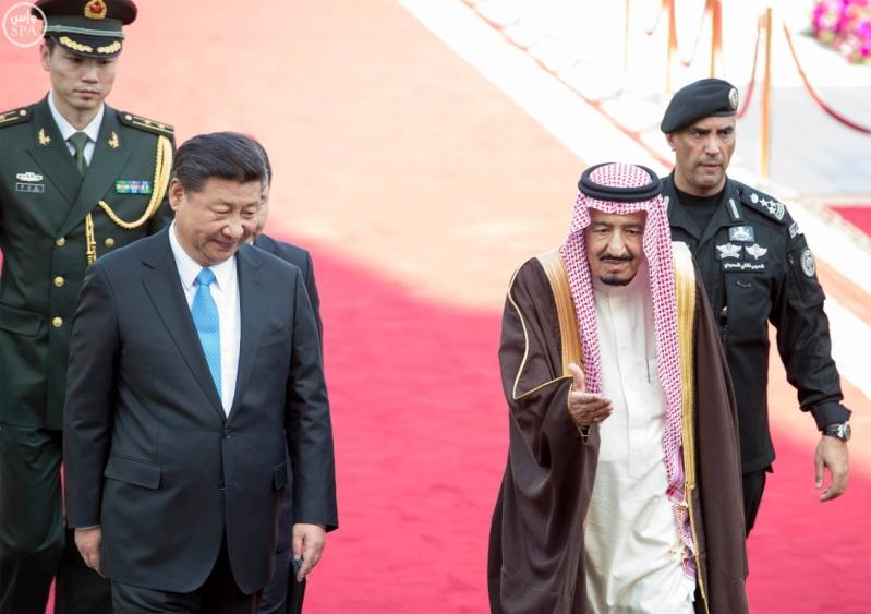 خادم الحرمين الشريفين يستقبل رئيس جمهورية الصين الشعبية ويقيم مأدبة غداء تكريما له3