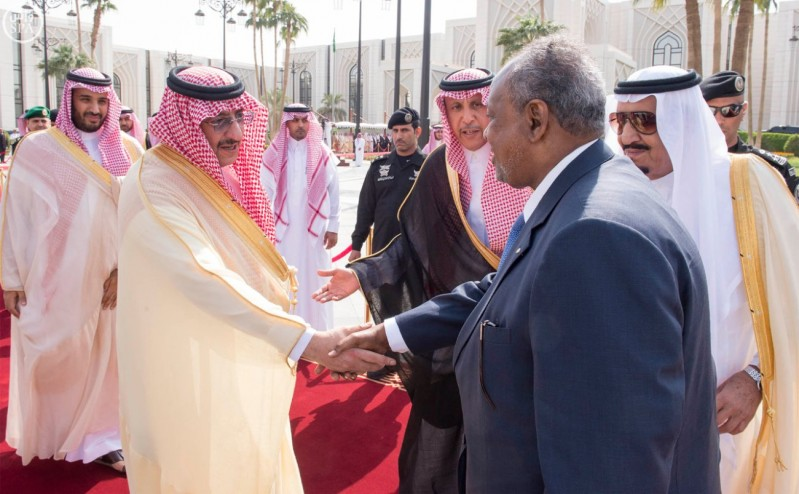 خادم الحرمين الشريفين يستقبل رئيس جمهورية جيبوتي 4