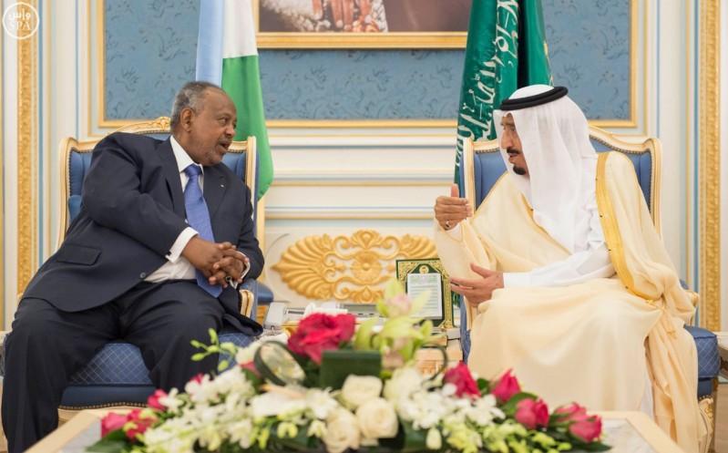 خادم الحرمين الشريفين يستقبل رئيس جمهورية جيبوتي 6