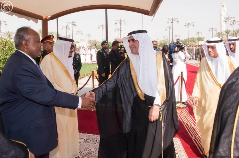 خادم الحرمين الشريفين يستقبل رئيس جمهورية جيبوتي 9