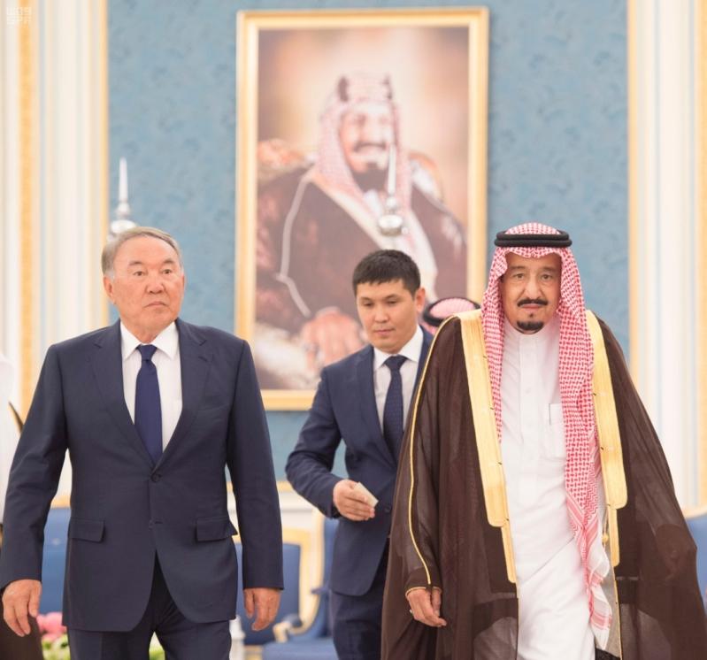 خادم الحرمين الشريفين يستقبل رئيس جمهورية كازاخستان ويقيم له مأدبة غداء 8
