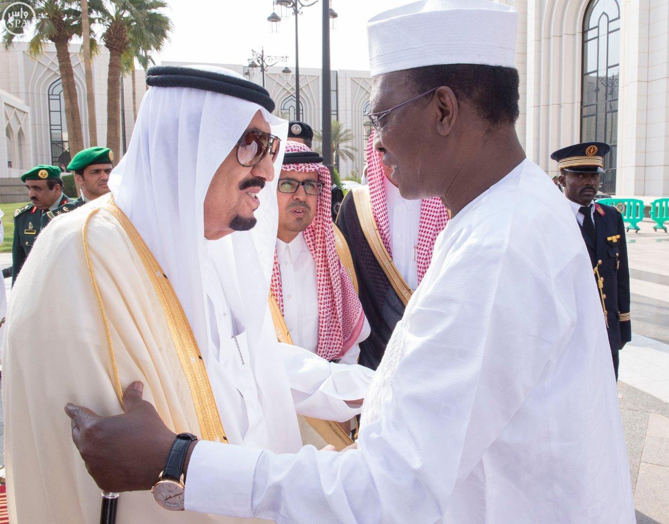 خادم الحرمين الشريفين يستقبل فخامة رئيس جمهورية تشاد 4