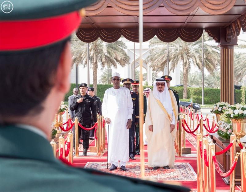 خادم الحرمين الشريفين يستقبل فخامة رئيس جمهورية تشاد 5