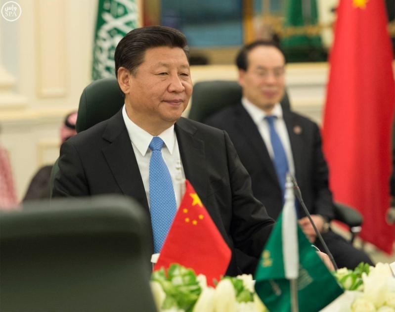 خادم الحرمين الشريفين يعقد جلسة مباحثات مع فخامة الرئيس الصيني3