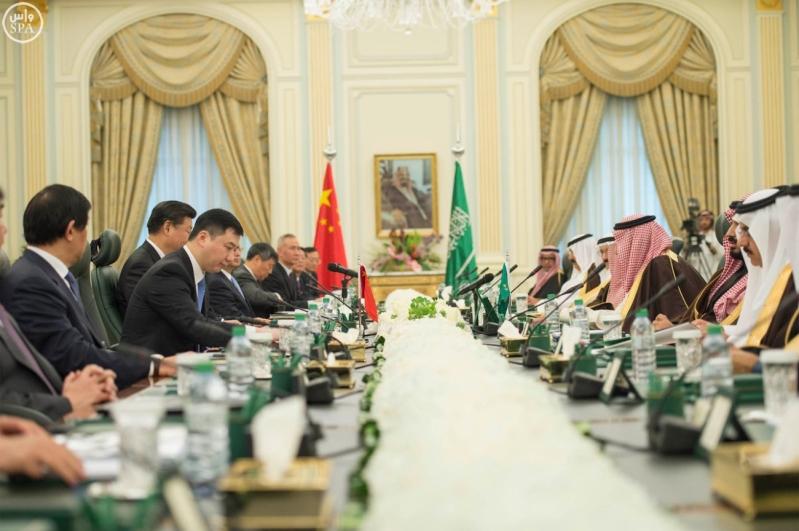 خادم الحرمين الشريفين يعقد جلسة مباحثات مع فخامة الرئيس الصيني5