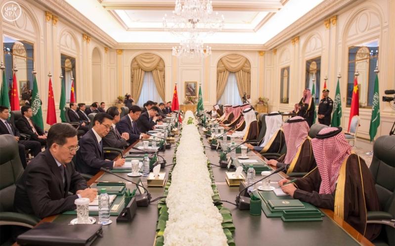 خادم الحرمين الشريفين يعقد جلسة مباحثات مع فخامة الرئيس الصيني6