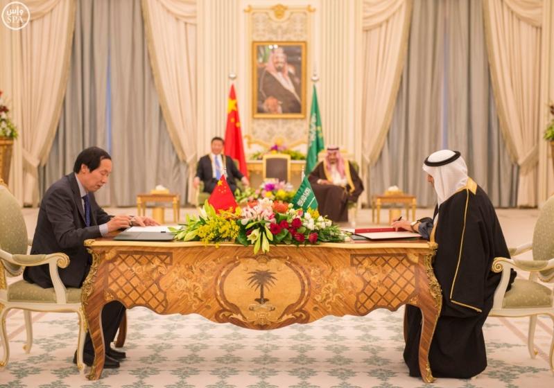 خادم الحرمين الشريفين يعقد جلسة مباحثات مع فخامة الرئيس الصيني7