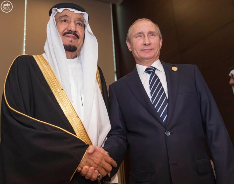 خادم الحرمين الشريفين يلتقي الرئيس الروسي على هامش أعمال قمة قادة دول مجموعة العشرين