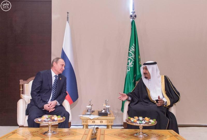 خادم الحرمين الشريفين يلتقي الرئيس الروسي على هامش أعمال قمة قادة دول مجموعة العشرين2
