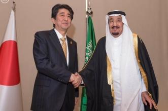 خادم الحرمين الشريفين يلتقي رئيس الوزراء الياباني على هامش قمة قادة دول