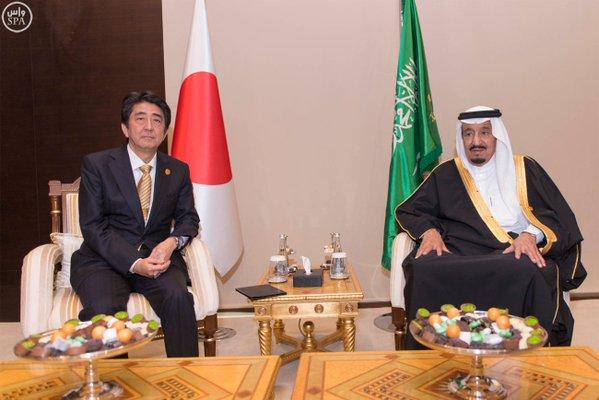 خادم الحرمين الشريفين يلتقي رئيس الوزراء الياباني على هامش قمة قادة دول1
