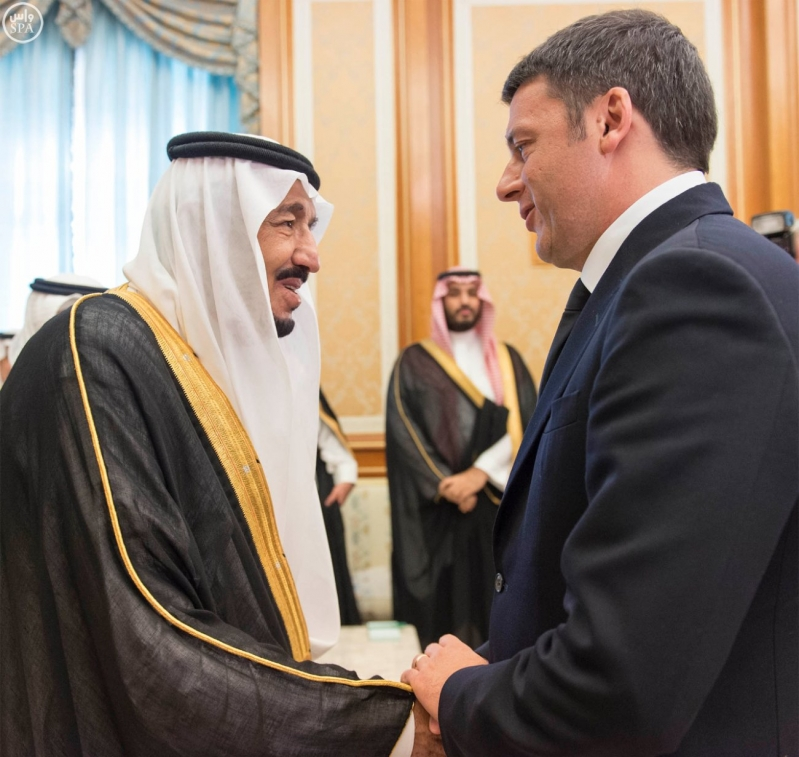 خادم الحرمين مع رئيس ايطاليا