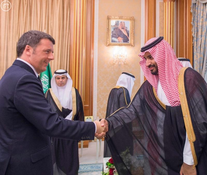 خادم الحرمين مع رئيس ايطاليا2