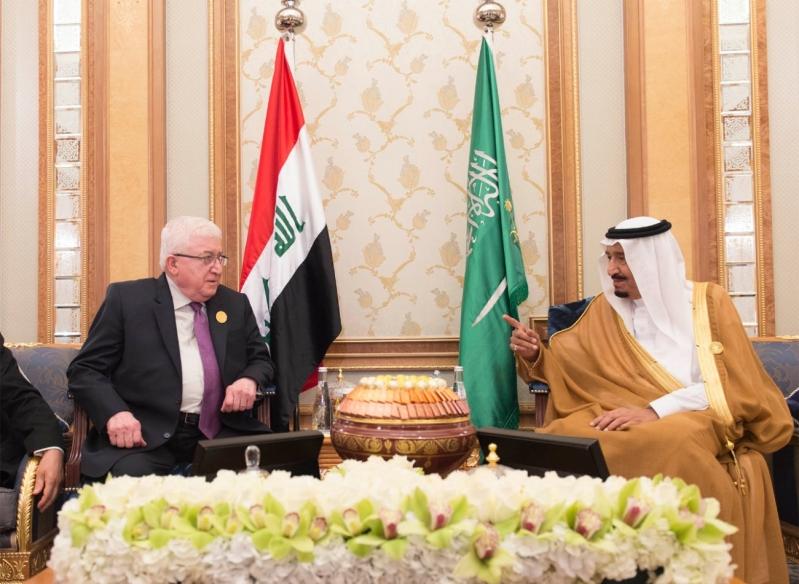 خادم الحرمين ورئيس العراق