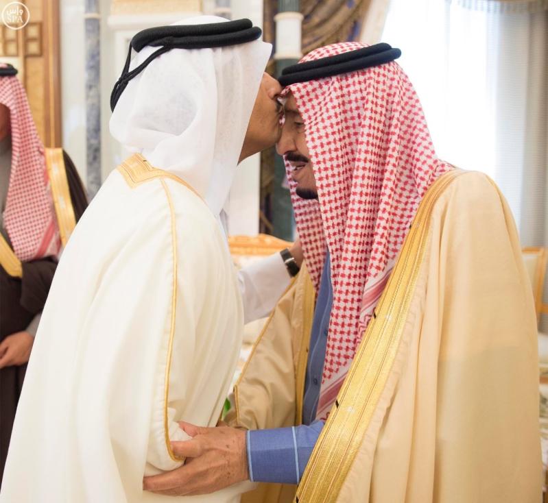 خادم الحرمين يتسلم رسالة من أمير دولة قطر2