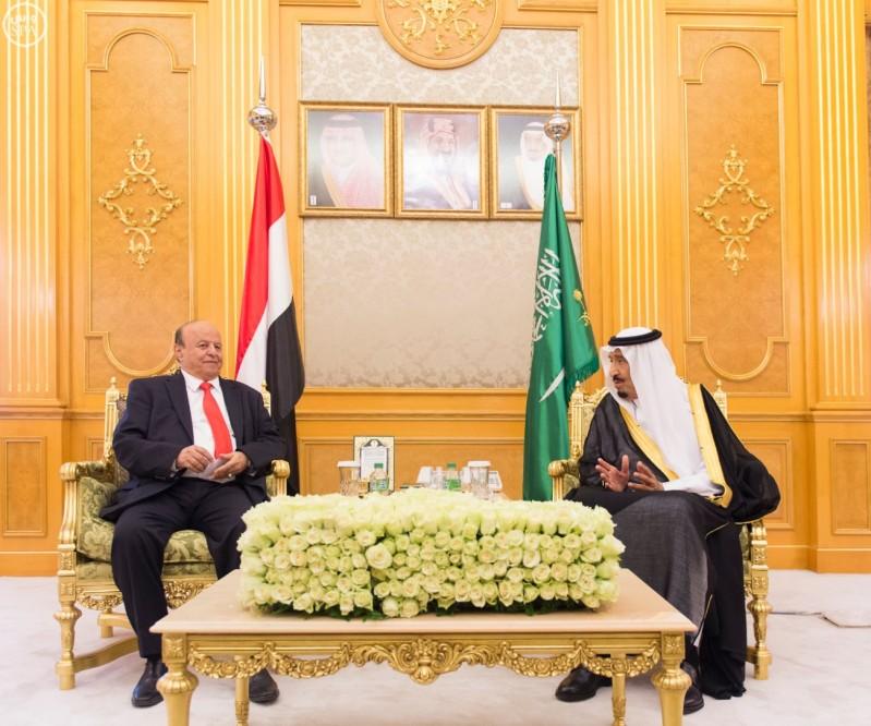 خادم الحرمين يستقبل الرئيس اليمني