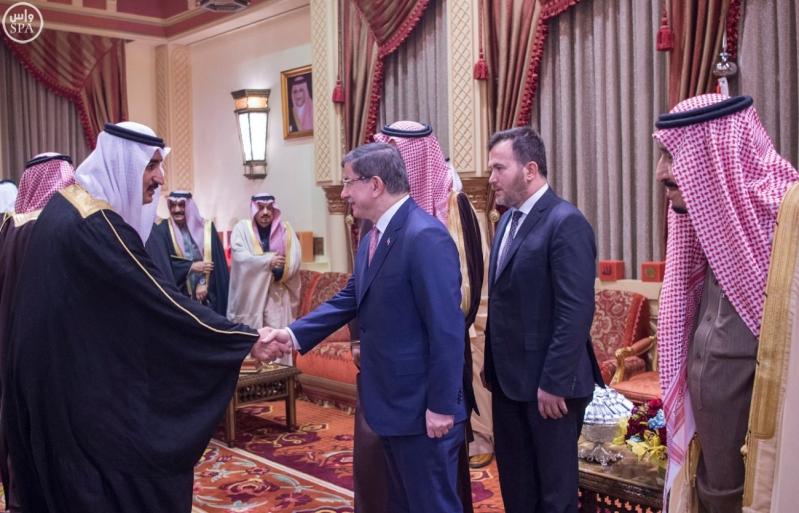 خادم الحرمين يستقبل رئيس وزراء تركيا3