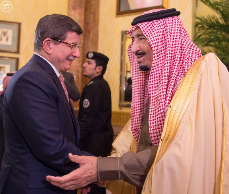خادم الحرمين يستقبل رئيس وزراء تركيا6
