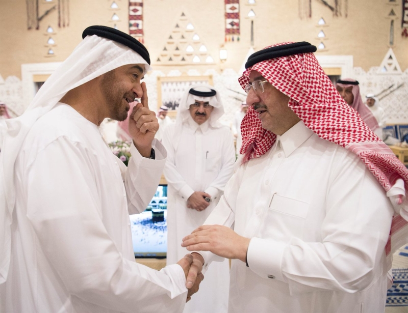 خادم الحرمين يستقبل ولي عهد أبو ظبي (1) 