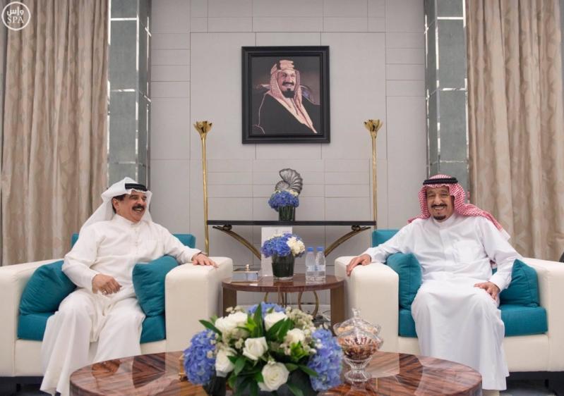 #خادم_الحرمين يستقبل ملك البحرين