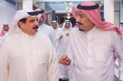 #خادم_الحرمين يستقبل ملك البحرين3