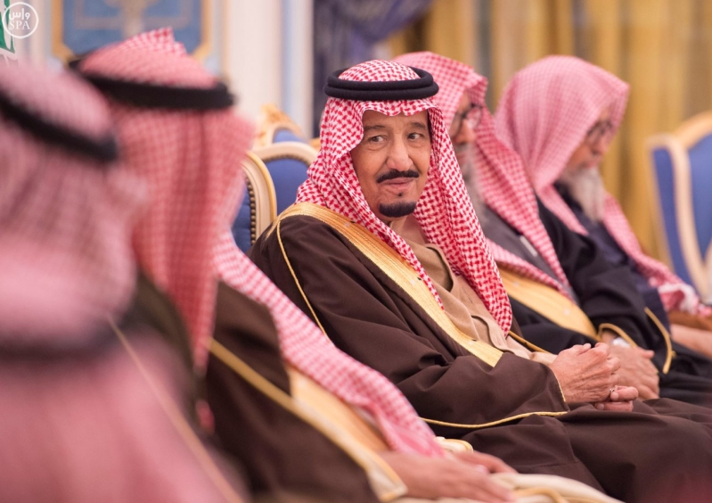 خاد م الحرمين يستقبل أصحاب السمو الأمراء ومفتي عام المملكة10
