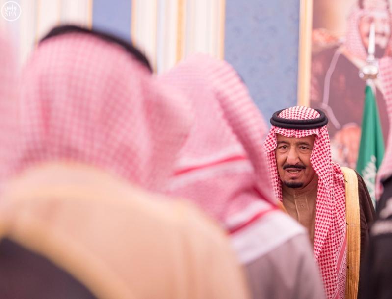 خاد م الحرمين يستقبل أصحاب السمو الأمراء ومفتي عام المملكة11