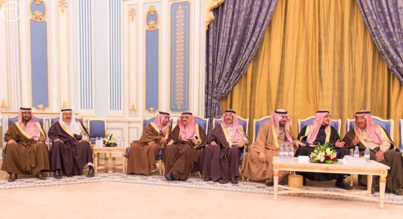 خاد م الحرمين يستقبل أصحاب السمو الأمراء ومفتي عام المملكة13