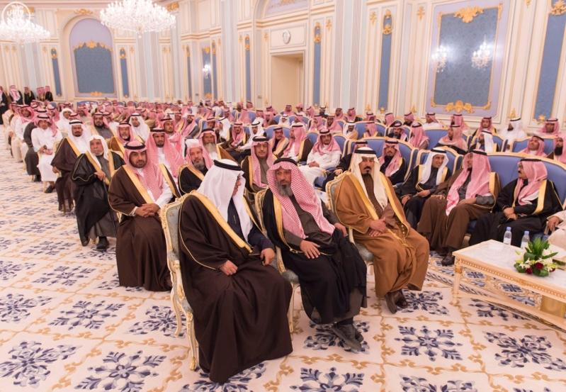 خاد م الحرمين يستقبل أصحاب السمو الأمراء ومفتي عام المملكة14