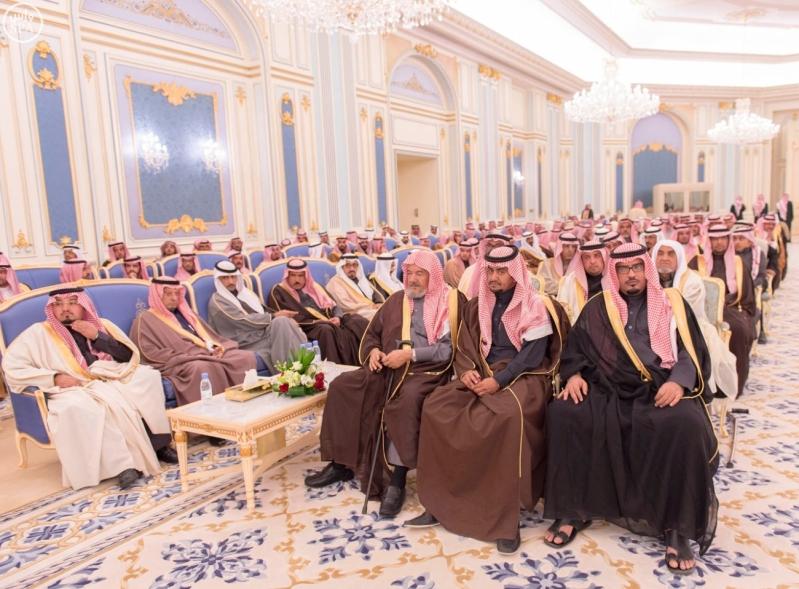 خاد م الحرمين يستقبل أصحاب السمو الأمراء ومفتي عام المملكة15