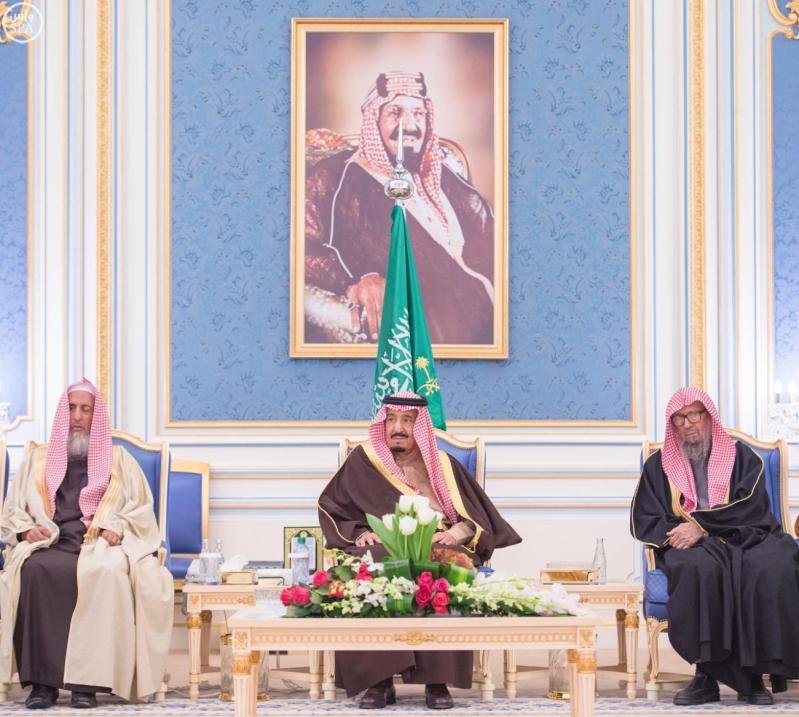 خاد م الحرمين يستقبل أصحاب السمو الأمراء ومفتي عام المملكة18