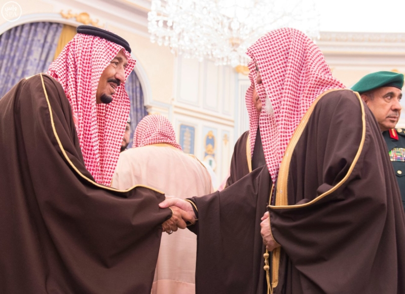 خاد م الحرمين يستقبل أصحاب السمو الأمراء ومفتي عام المملكة4