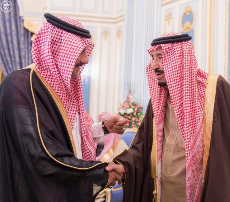 خاد م الحرمين يستقبل أصحاب السمو الأمراء ومفتي عام المملكة6