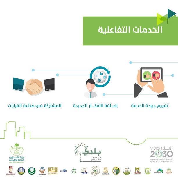 خدمات تفاعلية بوابة بلدي
