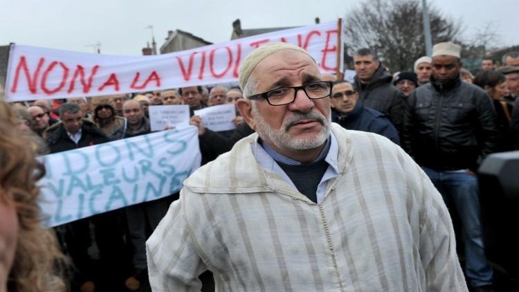 خطبة جمعة موحدة في كل مساجد #فرنسا ضد #الإرهاب (1)