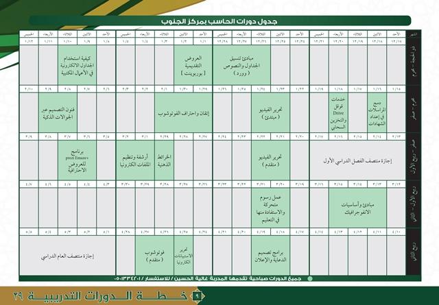 خطة مراكز التدريب النسائي 29-9