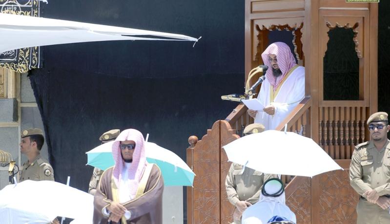خطيب الحرم استقبلوا رمضان فرحين لا متشائمين ومشاغبين