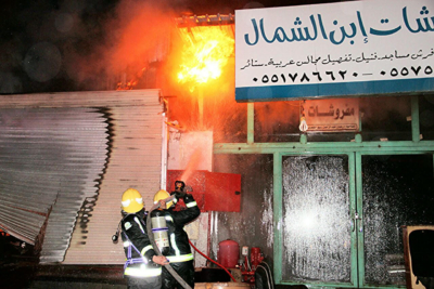 خماد حريق محلات الآثاث10